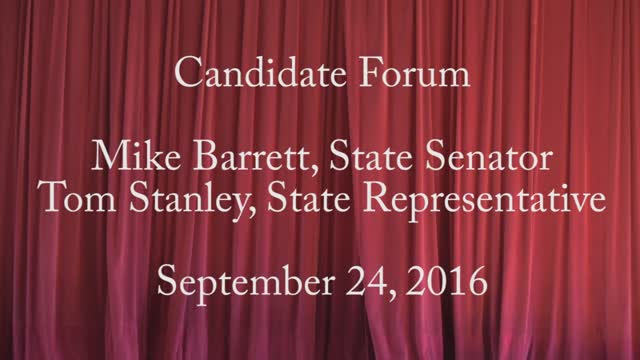 2016 September 24 Candidate Forum