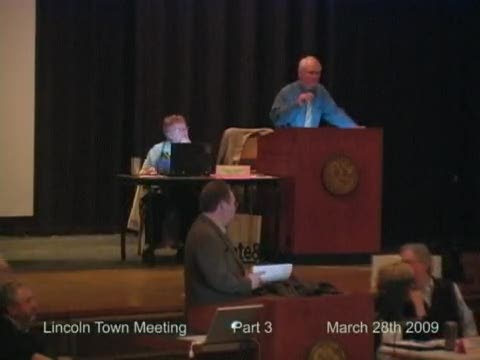 Town Meeting 2009 (Part 4)
